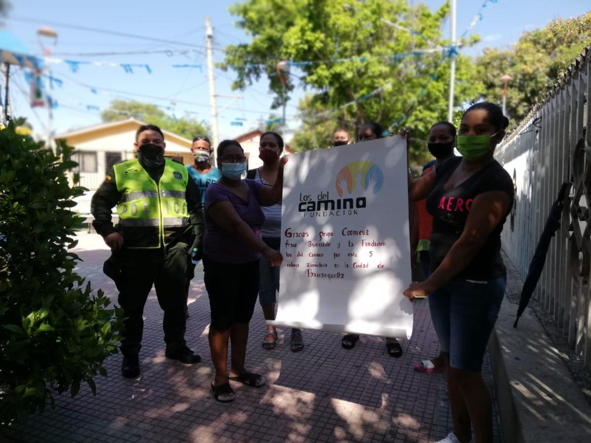 Entrega de Mercados Grupo Coomeva - Fundación Los del Camino